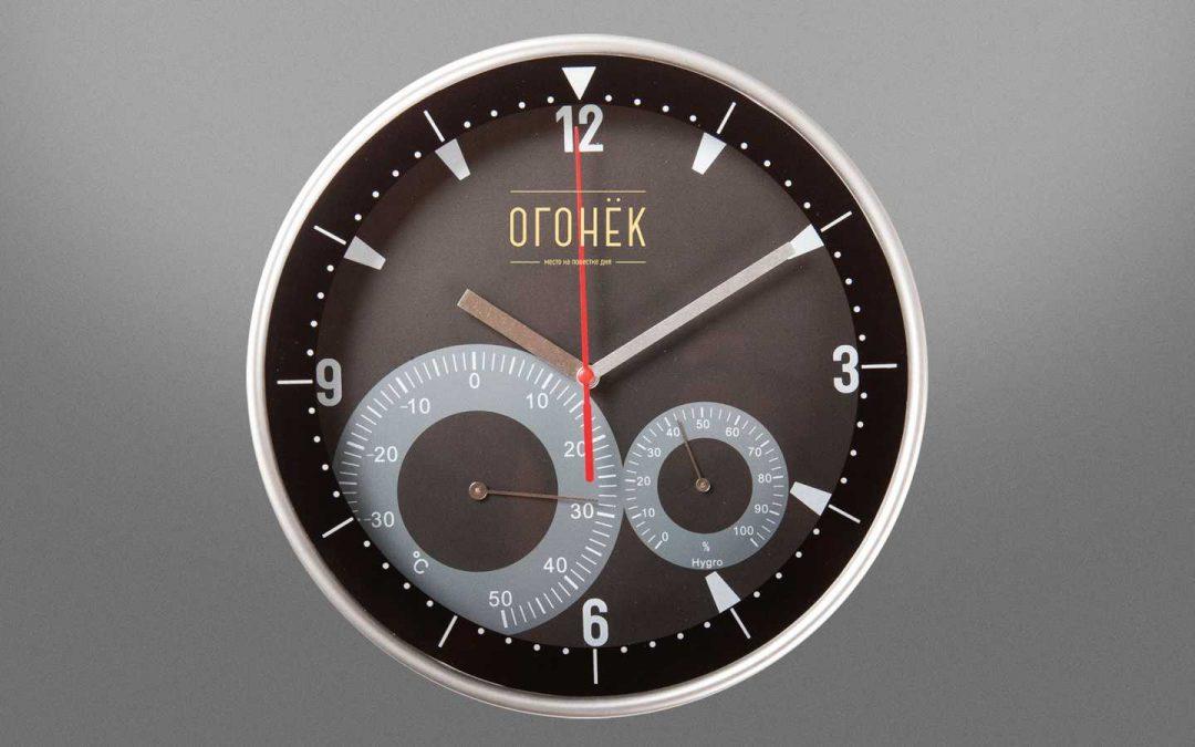CHasy nastennye s termometrom i gigrometrom Ogonek-1